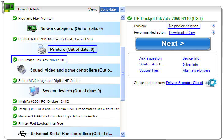 Driver Detective Scan and Driver Download Example